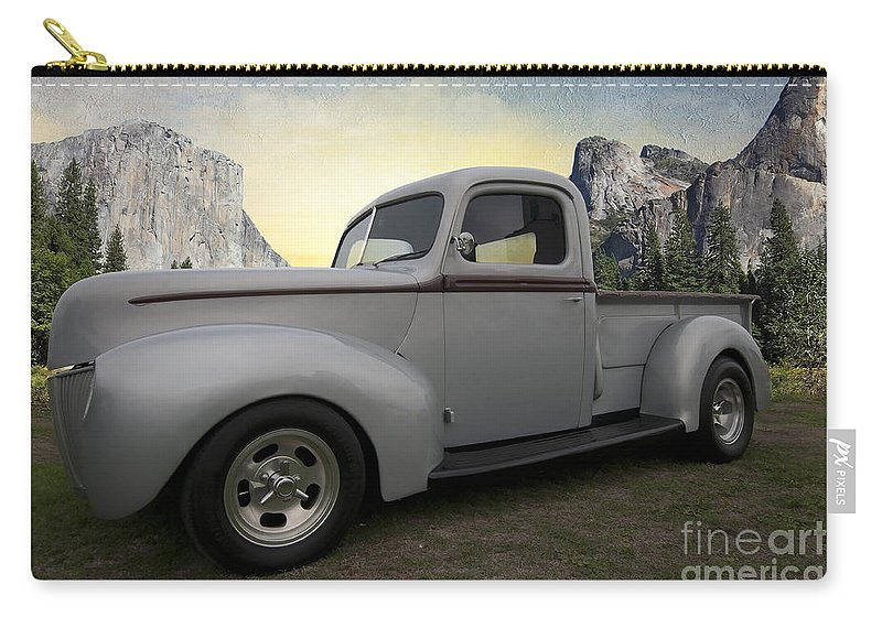 Older Classic Truck Carry-all Pouch featuring the photograph Older Classic Truck by Liane Wright