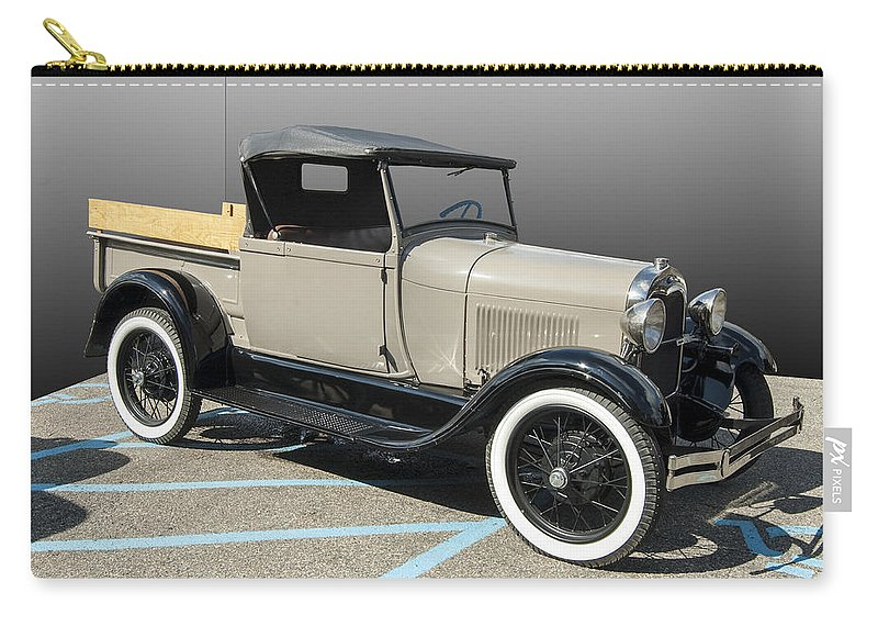 Old Pickup Convertible Carry-all Pouch featuring the photograph Older Pickup by Paul Cannon
