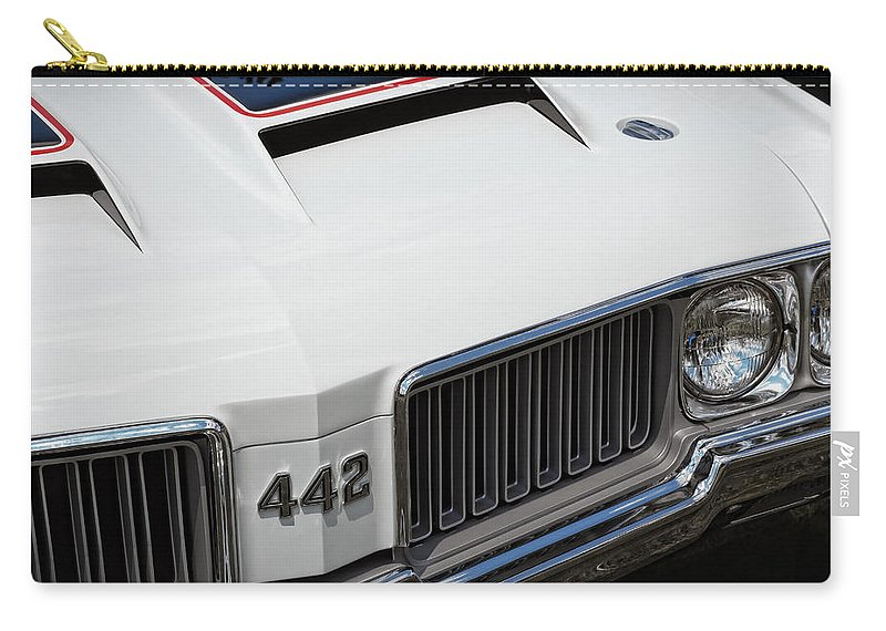 Oldsmobile Carry-all Pouch featuring the photograph Olds Cutlass 4-4-2 by Gordon Dean II