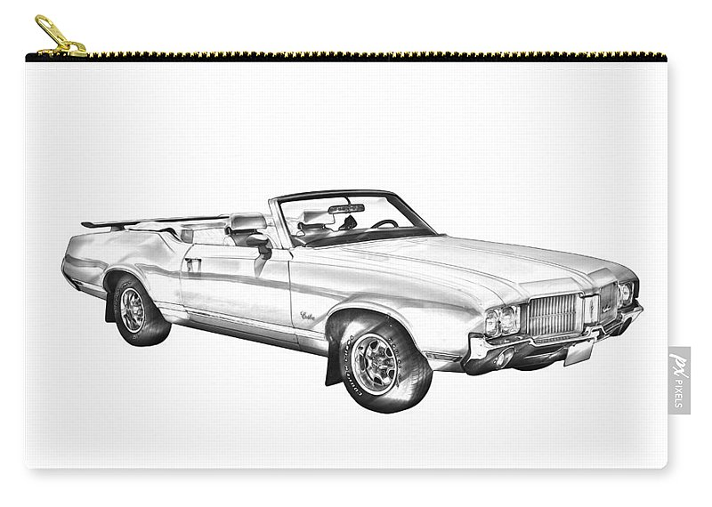 82c0e5ce5 Oldsmobile Cutlass Supreme Muscle Car Illustration Carry-all Pouch for Sale  by Keith Webber Jr