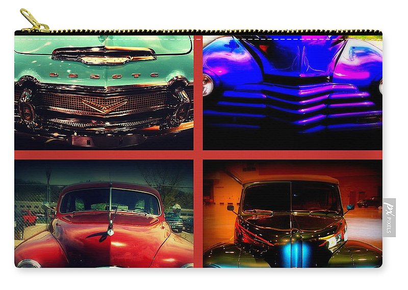 Old Timer Carry-all Pouch featuring the photograph Oldtimer Collage by Susanne Van Hulst