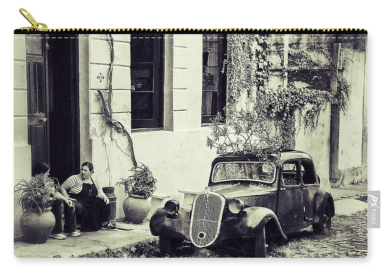Ruguay Carry-all Pouch featuring the photograph Oldtimer Ladies Retro by For Ninety One Days