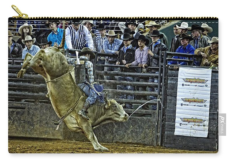 Bullriding Carry-all Pouch featuring the photograph Ole Lefty by Alice Gipson