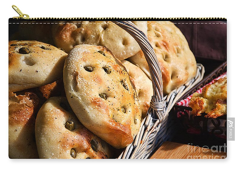 Bread Carry-all Pouch featuring the photograph Olive Bread by Susie Peek