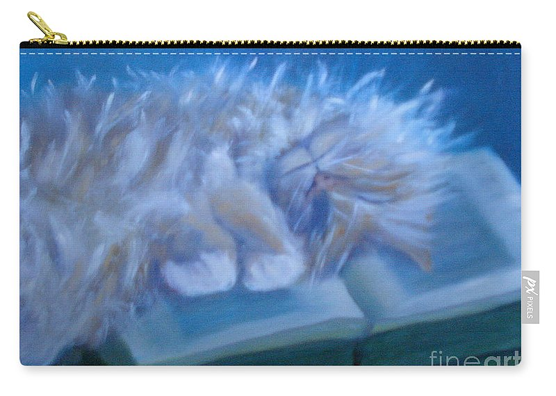 Cat Carry-all Pouch featuring the painting Oliver Sleeping by Rebecca Hendrix