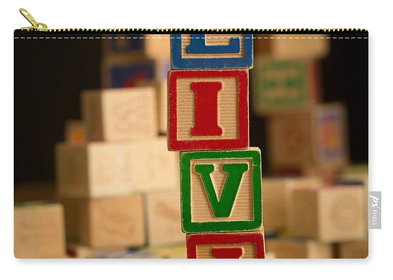 Alphabet Carry-all Pouch featuring the photograph Olivia - Alphabet Blocks by Edward Fielding