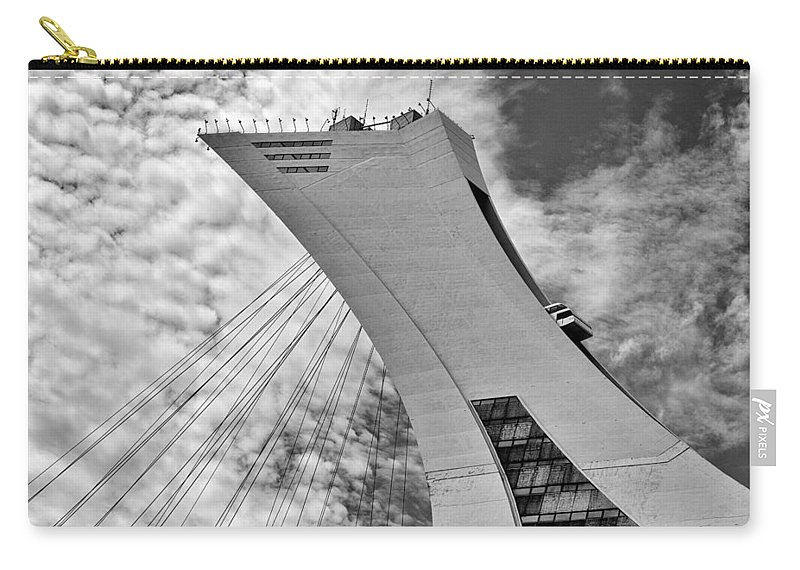 B/w Carry-all Pouch featuring the photograph Olympic Stadium by Eunice Gibb