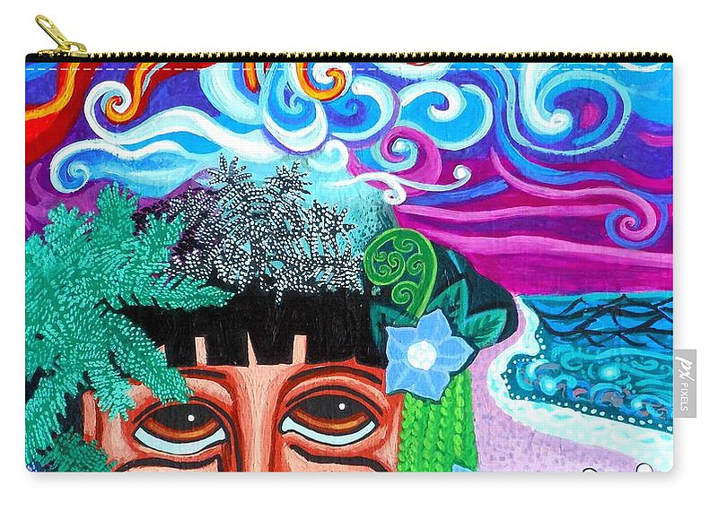 Om Carry-all Pouch featuring the painting Om by Genevieve Esson