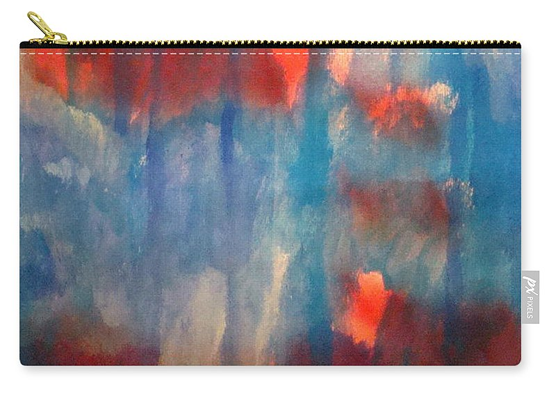 Christian Carry-all Pouch featuring the painting On A Clear Day - Red Forever by W Todd Durrance