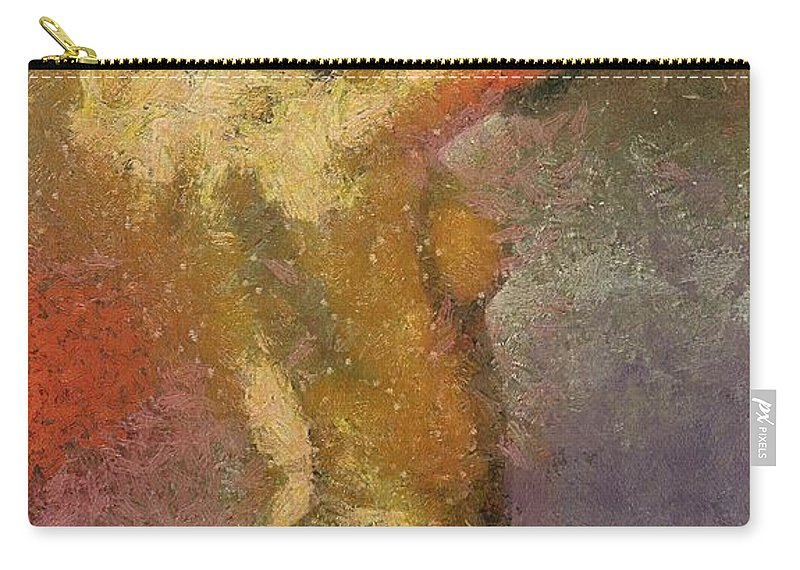 Female Carry-all Pouch featuring the painting On A Hot Summer Day by Dragica Micki Fortuna