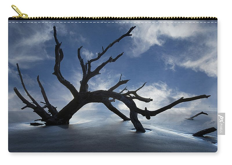 Clouds Carry-all Pouch featuring the photograph On a MIsty Morning by Debra and Dave Vanderlaan