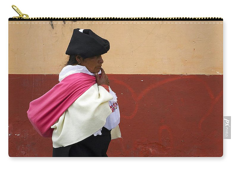 People Carry-all Pouch featuring the photograph On An Errand In Otavalo by Kurt Van Wagner