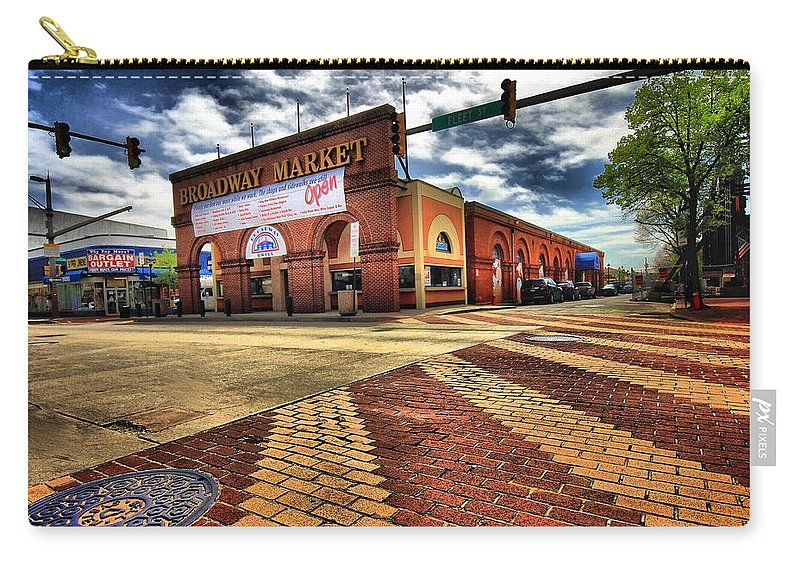 Architectural Art Carry-all Pouch featuring the photograph On Broadway by Robert McCubbin