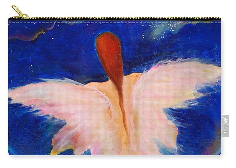 Luminous Art Carry-all Pouch featuring the painting On Call by Lily Nava