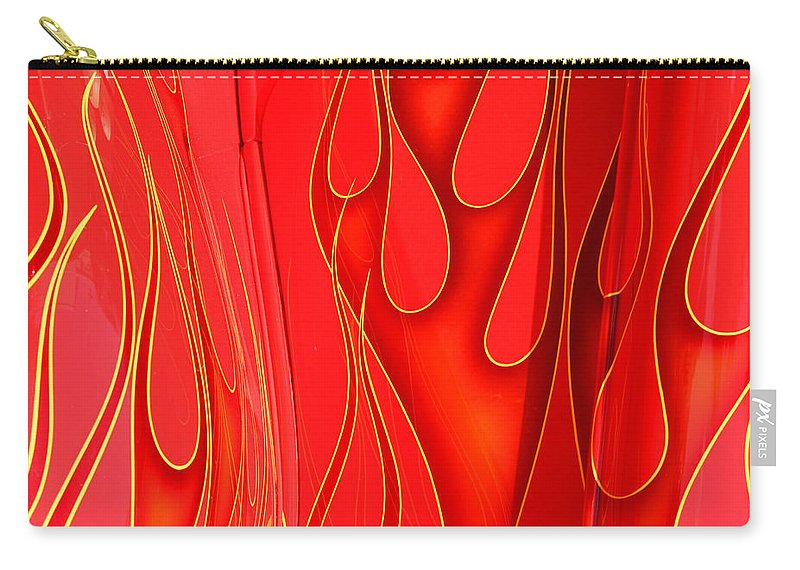 Hot Rod Carry-all Pouch featuring the photograph On Fire by Joe Kozlowski
