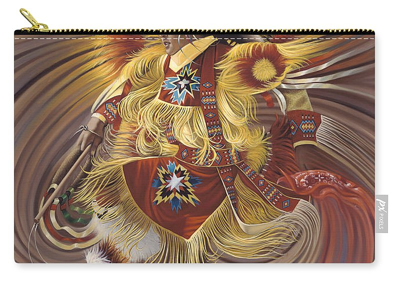 Sacred Carry-all Pouch featuring the painting On Sacred Ground Series 4 by Ricardo Chavez-Mendez