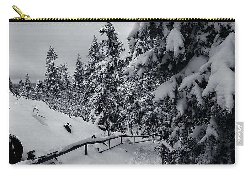 Achtermann Carry-all Pouch featuring the photograph on the Achtermann, Harz by Andreas Levi