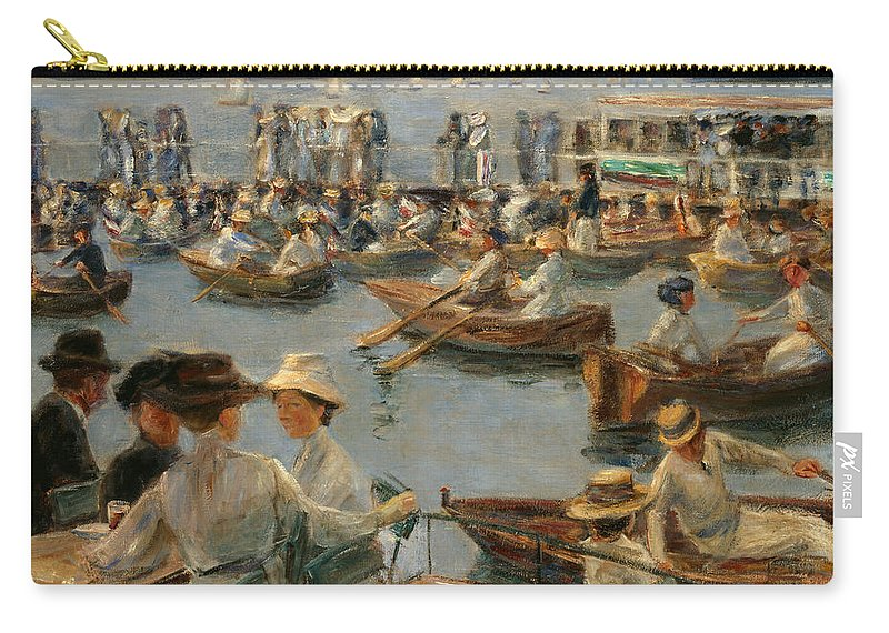 Max Liebermann Carry-all Pouch featuring the painting On The Alster In Hamburg by Max Liebermann