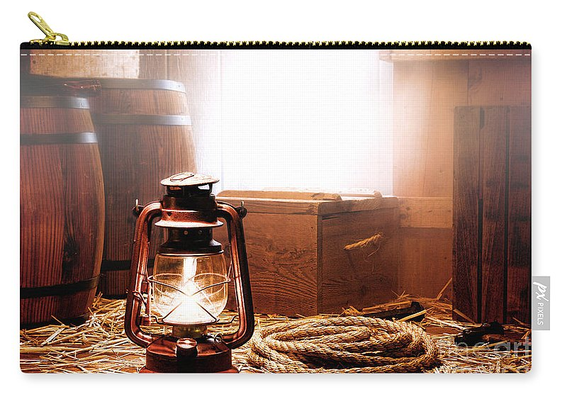 Kerosene Carry-all Pouch featuring the photograph On The Dock by Olivier Le Queinec