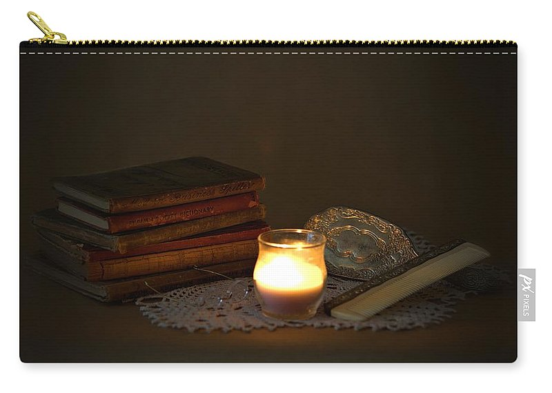 7796 Carry-all Pouch featuring the photograph On The Dresser by Gordon Elwell