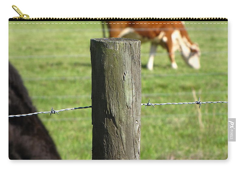 Cows Carry-all Pouch featuring the photograph On The Farm by Beth Vincent