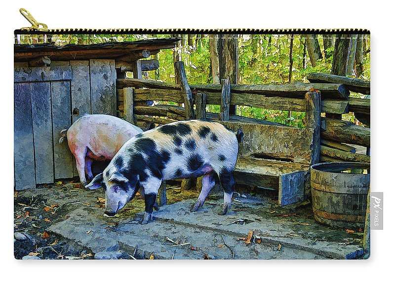 Kenny Francis Carry-all Pouch featuring the photograph On The Farm by Kenny Francis