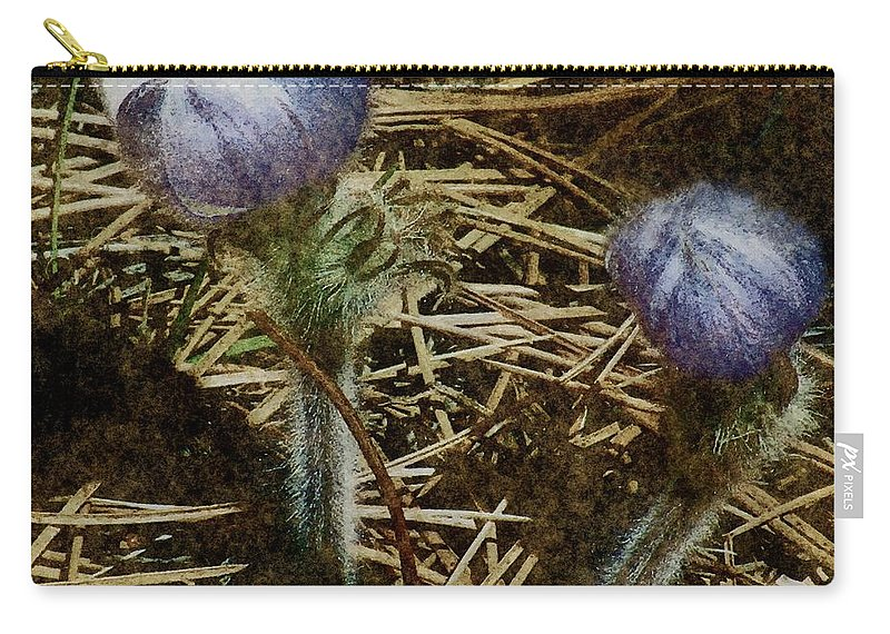 Colorado Carry-all Pouch featuring the painting On The Forest Floor by RC DeWinter