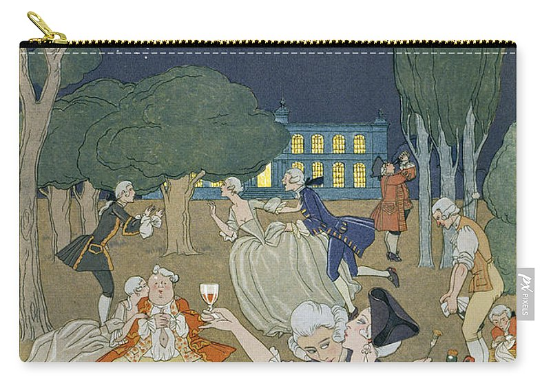 Nocturne Carry-all Pouch featuring the painting On The Lawn by Georges Barbier