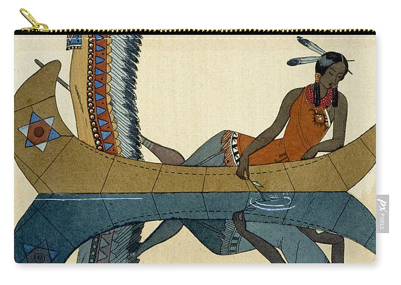 Le Long Du Missouri Carry-all Pouch featuring the painting On the Missouri by Georges Barbier