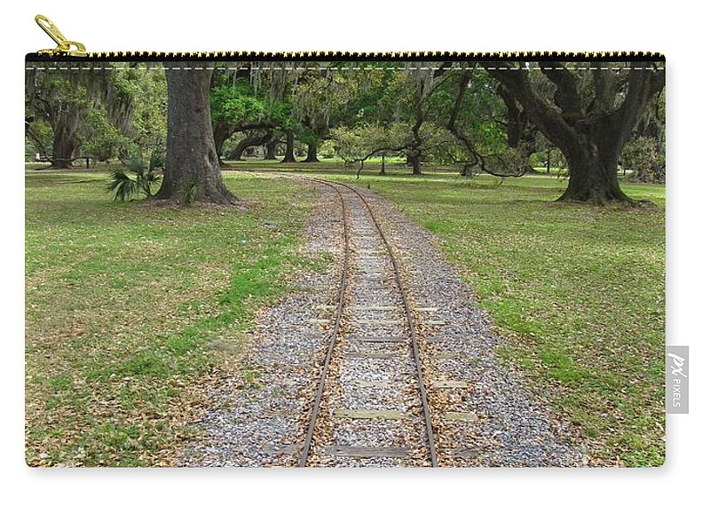 On The Right Track Carry-all Pouch featuring the photograph On The Right Track by Beth Vincent