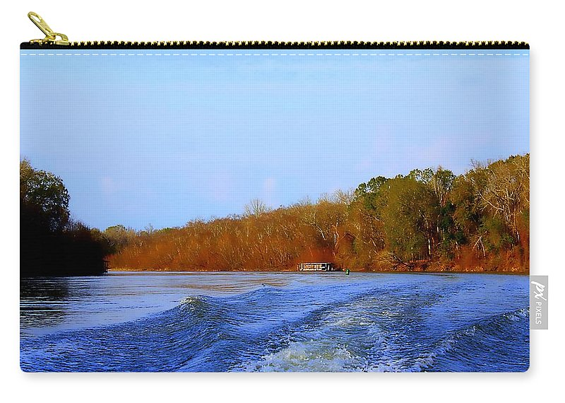 Apalachicola Carry-all Pouch featuring the photograph On The Rivers Bend by Debra Forand