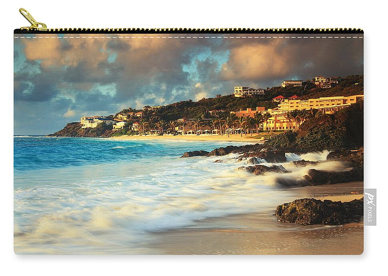 On The Rocks Carry-all Pouch featuring the photograph On The Rocks by Roupen Baker