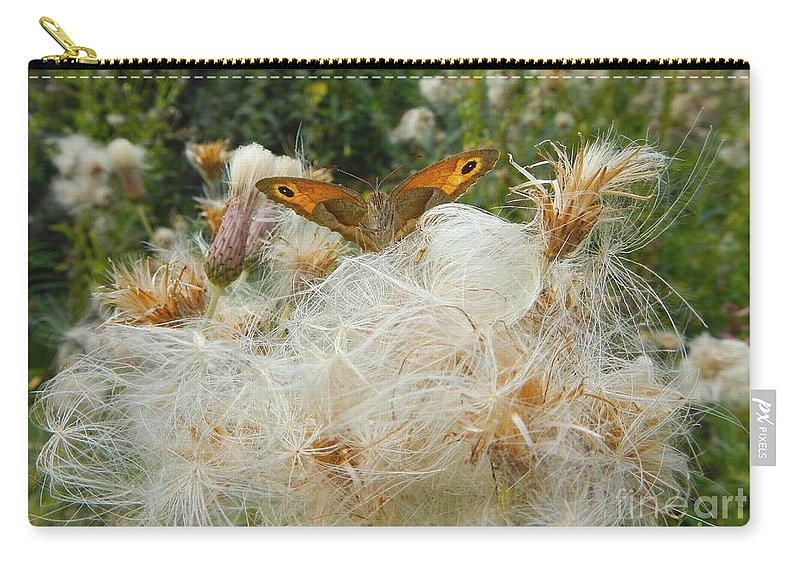 Summer Carry-all Pouch featuring the photograph On The Soft Pillow by Loreta Mickiene