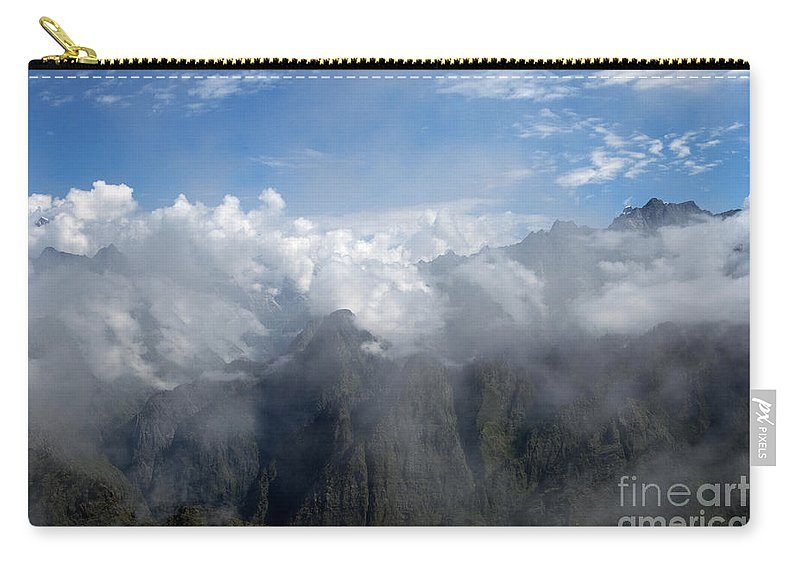 Travel Carry-all Pouch featuring the photograph On The Top Of The World... by Nina Stavlund