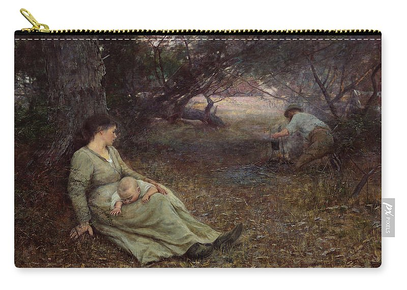 Frederick Mccubbin Carry-all Pouch featuring the painting On the wallaby track by Frederick McCubbin