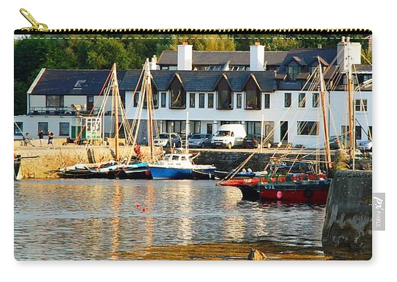 Harbor Carry-all Pouch featuring the photograph On The Waterfront by Charlie and Norma Brock