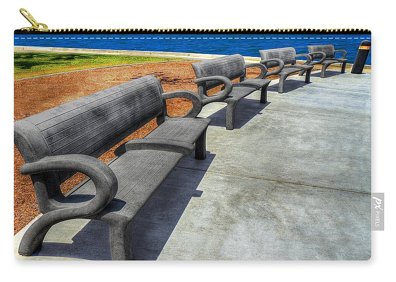 On The Waterfront Carry-all Pouch featuring the photograph On The Waterfront by Paul Wear