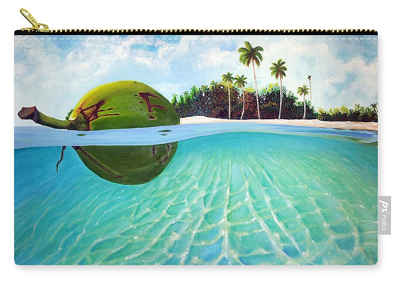 Coconut Carry-all Pouch featuring the painting On The Way by Jose Manuel Abraham