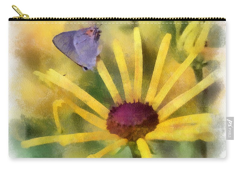 Butterfly Carry-all Pouch featuring the photograph On The Yellow by Kerri Farley