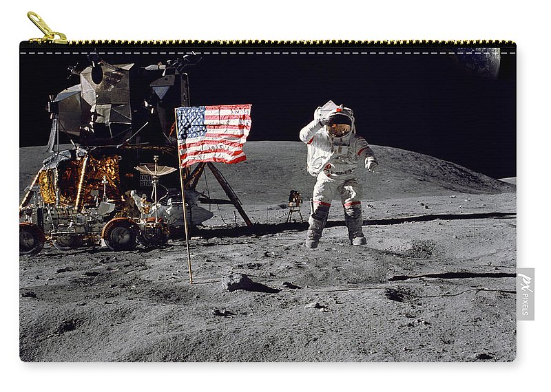 Moon Carry-all Pouch featuring the photograph On Top Of The World by Jon Neidert