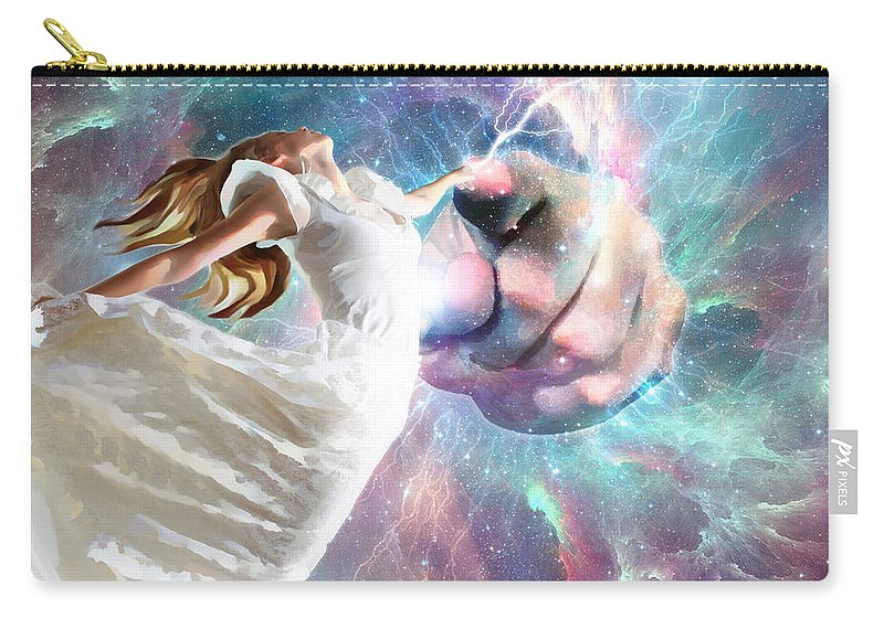 Carry-all Pouch featuring the digital art Once Touched Forever Changed by Dolores Develde
