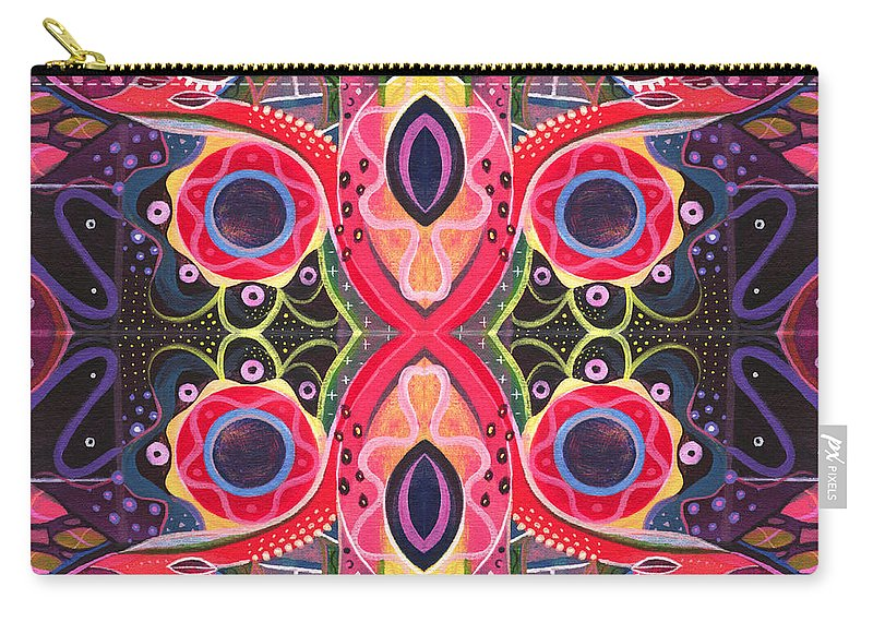 Digital Carry-all Pouch featuring the digital art Once Upon A Time 2 - The Joy Of Design Xlll Arrangement by Helena Tiainen
