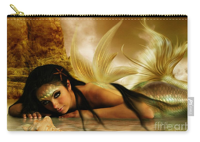 Fantasy Carry-all Pouch featuring the digital art Ondine by Babette Van den Berg