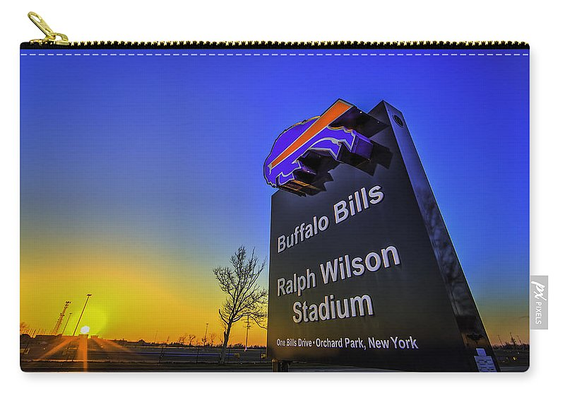 Buffalo Photographs Carry-all Pouch featuring the photograph One Bills Drive by John Lattanzio