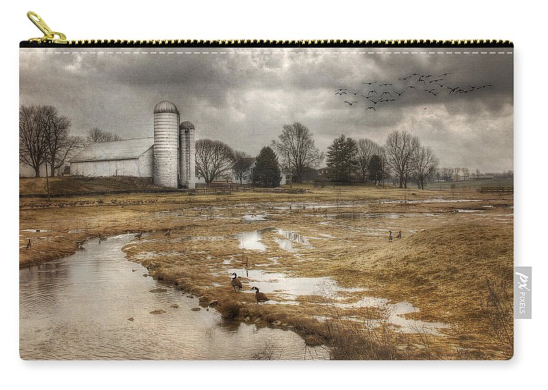 Barn Carry-all Pouch featuring the photograph One Day At A Time by Lori Deiter