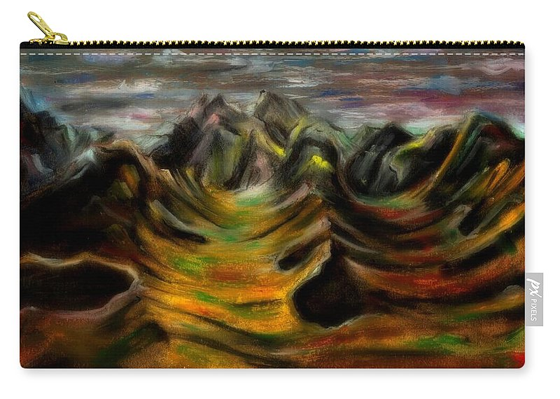 Beautiful Carry-all Pouch featuring the photograph One Fall Eve In Paradise by Artist RiA
