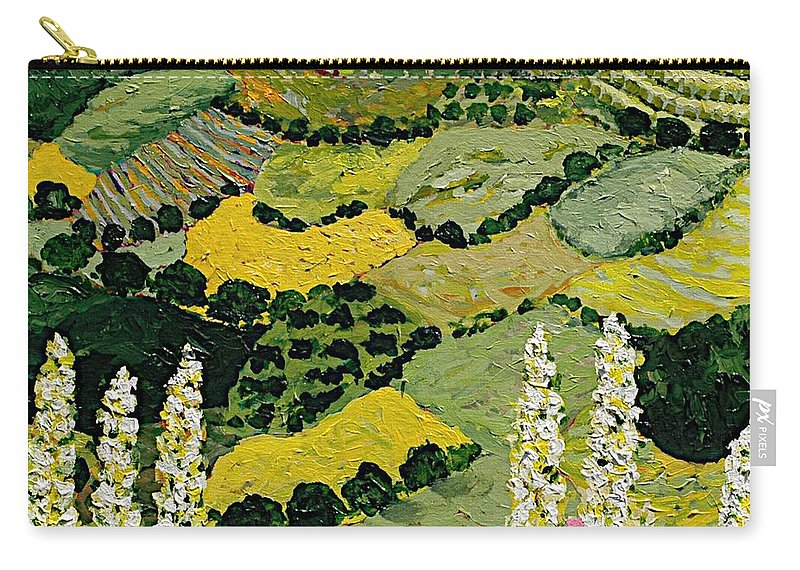 Landscape Carry-all Pouch featuring the painting One More Smile by Allan P Friedlander