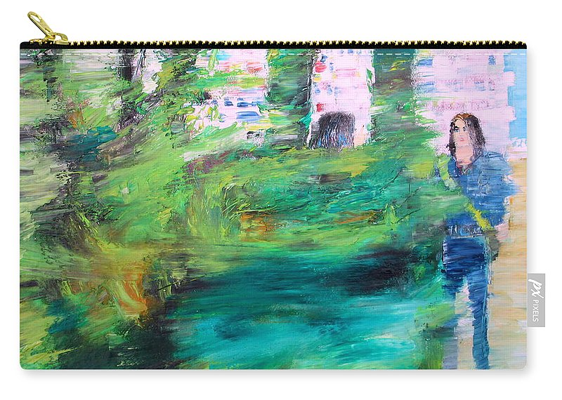 Man Carry-all Pouch featuring the painting One Of These Days by Fabrizio Cassetta