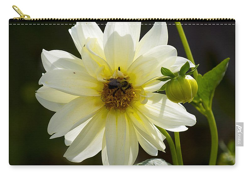Flower Carry-all Pouch featuring the photograph One On One by Joe Geraci
