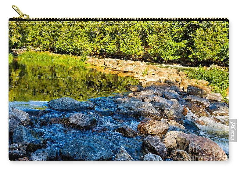 Gull Carry-all Pouch featuring the photograph One River - Three Flows by Les Palenik
